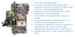Inside Parts of a Miniature Circuit Breaker