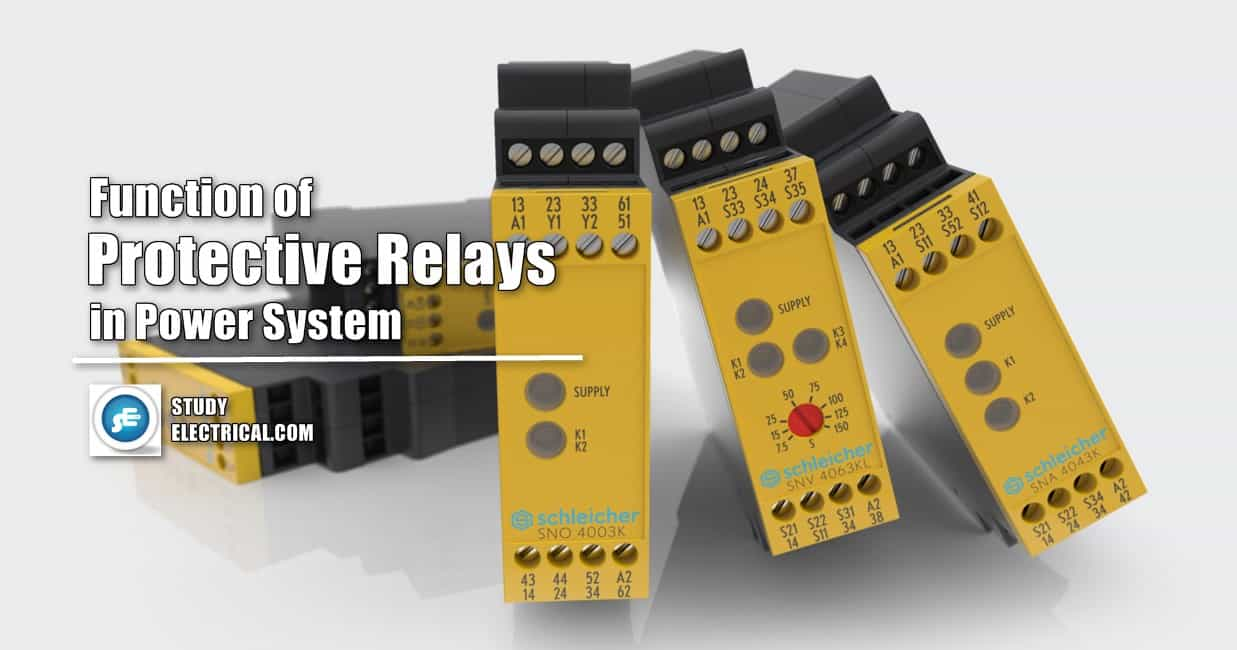 fUNCTION OF PROTECTIVE RELAYS