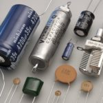 Collection of different types of capacitors