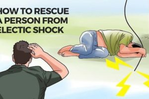 How to rescue a person from electric shock