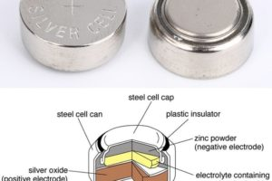 Silver oxide minature cell battery