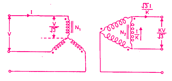 Star Delta Transformer Simple Connection Diagram