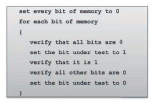 Moving ones test